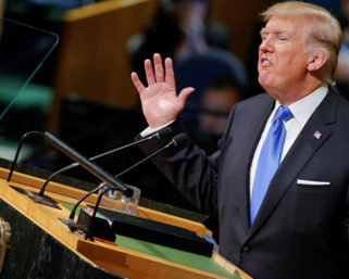 Donald J. Trump Under the spotlight at the U.N.
